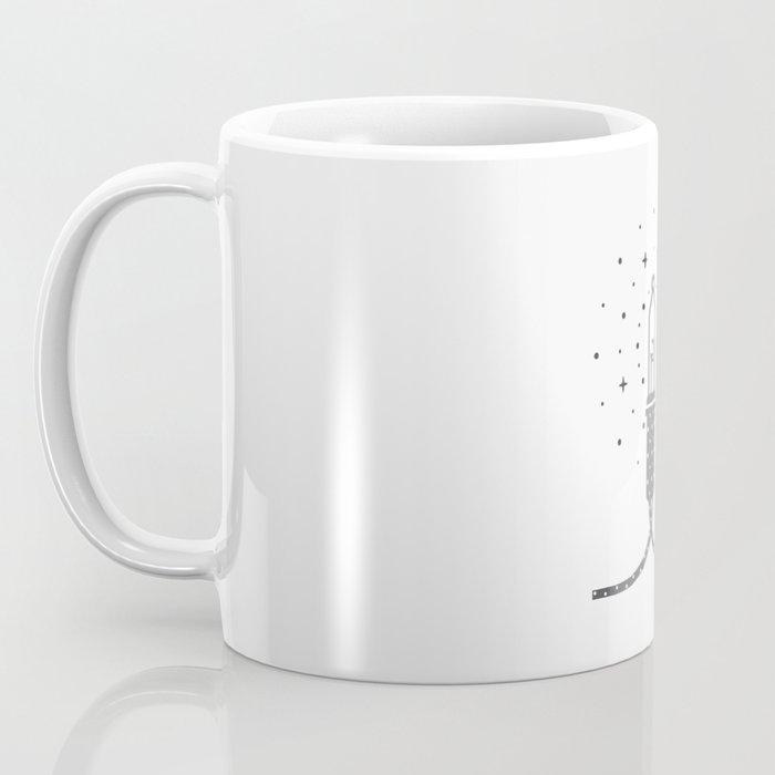 The moon inside a light bulb Coffee Mug