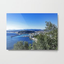 Panoramic view of Nice and its Baie des Anges Metal Print