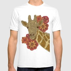 The Giraffe SMALL White Mens Fitted Tee