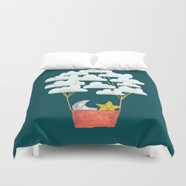 Hot cloud baloon - moon and star Duvet Cover