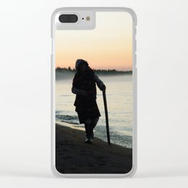 Sunrise Shadow by the lake Clear iPhone Case