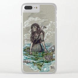 The Sea Witch and Her Sea Gull Clear iPhone Case