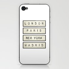 London | Paris | New York | Madrid iPhone & iPod Skin