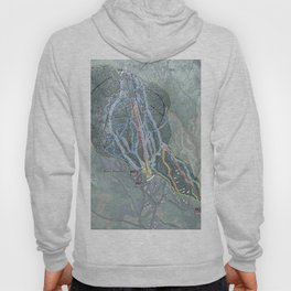 Burke Mountain Resort Trail Map Hoody