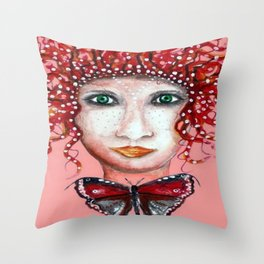 THE SCANDINAVIAN WOMAN / ORIGINAL DANISH DESIGN bykazandholly  Throw Pillow