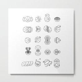 Basketballs Vol. 3 Metal Print