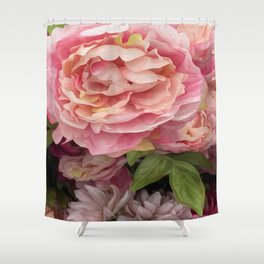 Oil Paint Flower Shower Curtain