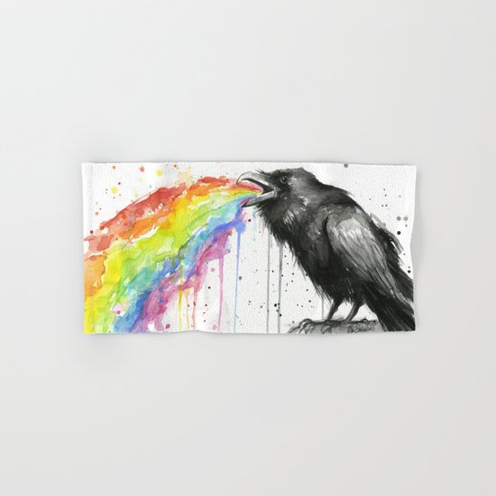 Raven Tastes the Rainbow Hand & Bath Towel