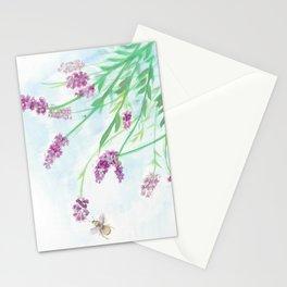 Botanic Lavender & Bee Illustration Stationery Cards