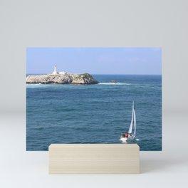Santander Sailing : Biscayne Bay Mini Art Print