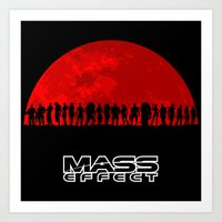 mass effect Art Prints featuring Mass Effect by TxzDesign