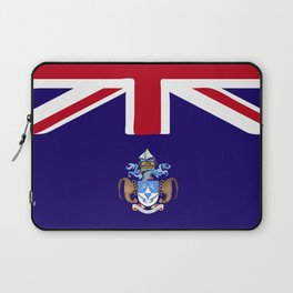 Tristan Da Cunha flag emblem Laptop Sleeve