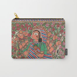 DurgaMadhubani art or Mithila painting was traditionally created by the women of various communities Carry-All Pouch