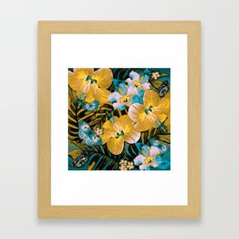 Golden Vintage Aloha Framed Art Print