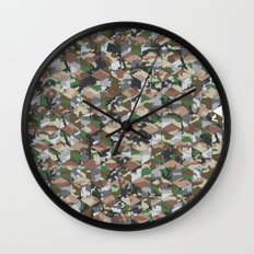 CUBOUFLAGE MULTI (medium) Wall Clock