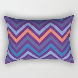 Purple Shade Wavy Line Geometric Patterns Rectangular Pillow