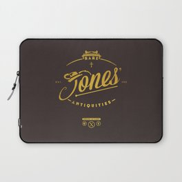 """Jones' Rare Antiquities"" - gold version Laptop Sleeve"