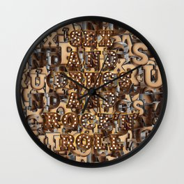 Sex and Drugs and Rock 'n' Roll Wall Clock