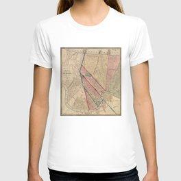 Vintage Map of New Orleans LA (1861) T-shirt