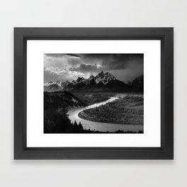 Ansel Adams The Tetons and the Snake River Framed Art Print