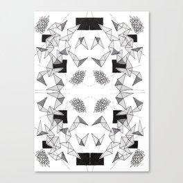 Spikey Line Triangles  Canvas Print