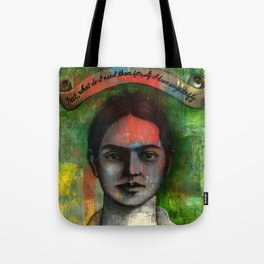 Wings to Fly, a portrait of Frida Kahlo Tote Bag