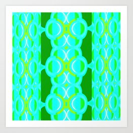 Westwork - Lime Cutwork Art Print