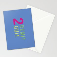 2 Remit 2 Quit Stationery Cards