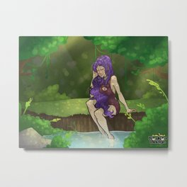 Cody In the Water Metal Print