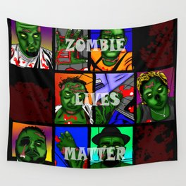 Zombie Lives Matter Collage Wall Tapestry