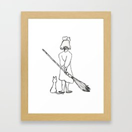 Believe in Yourself (Kiki) - Sketch Framed Art Print