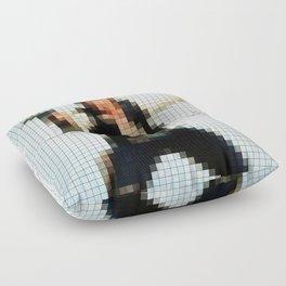 Han with Gun Pixels Texture Floor Pillow