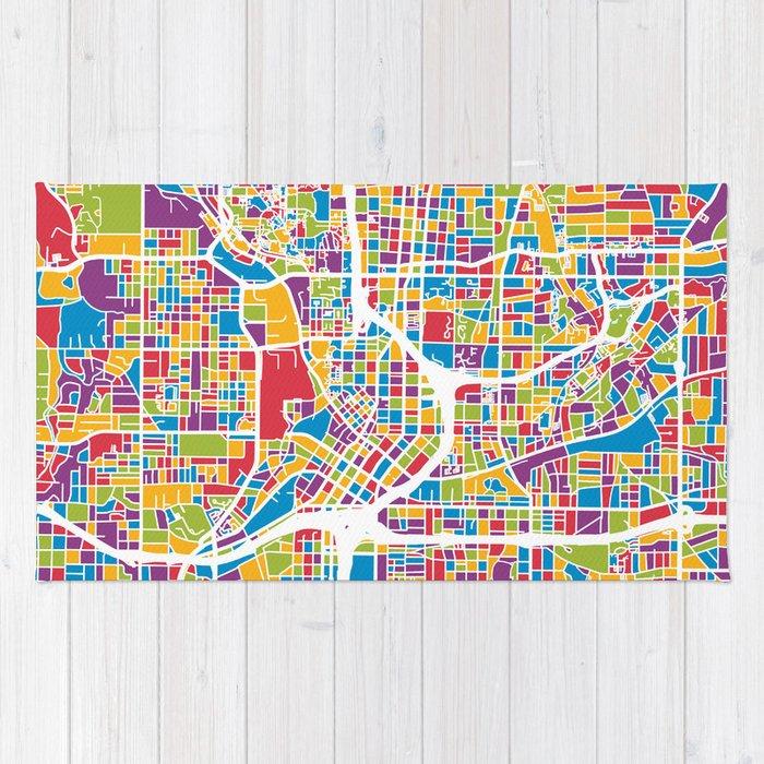 City Map Of Atlanta Georgia.Atlanta Georgia City Map Rug By Artpause Society6