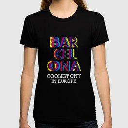 Barcelona Glitch Psychedelic T-shirt
