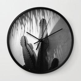 Monochrome SoCal Shadows Wall Clock