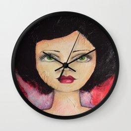 Bella SASS Girl - Cyndi - SASS = STRONG and SUPER SMART Wall Clock