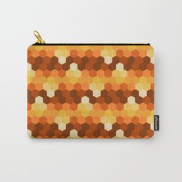 Shade of Hexagon (Brown) Carry-All Pouch