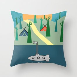 Outdoors Throw Pillow