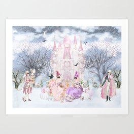 Halloween Supper at the Chateau Art Print