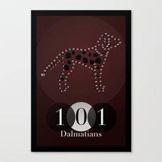 101 Dalmatians Canvas Print