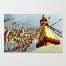 Boudhanath stupa in Nepal Canvas Print