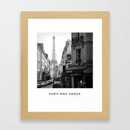 PARIS MON AMOUR Framed Art Print