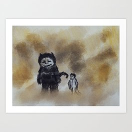 where the wildthings are Art Print