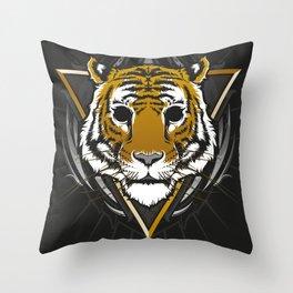 The Blackout Tiger Throw Pillow