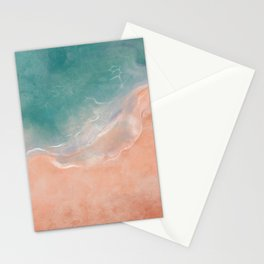 Sea and sand love Stationery Cards