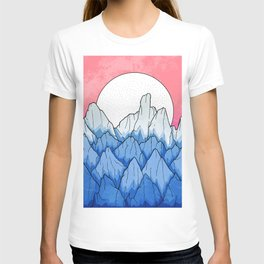 As the mountains turned blue T-shirt