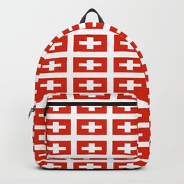 flag of Switzerland -,Swiss,Schweizer, Suisse,Helvetic,zurich,geneva,bern,godard,heidi Backpack
