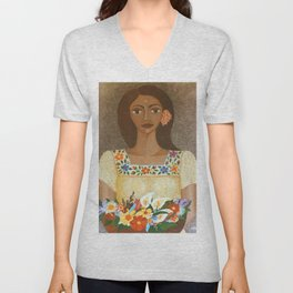 More than flowers she sells illusions Unisex V-Neck