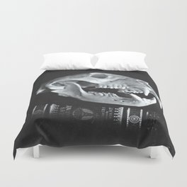 Bear Skull Still Life Duvet Cover