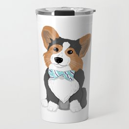 Business Corgi Travel Mug